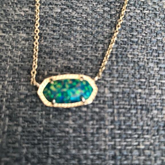 Kendra Scott Elisa Marine Opal Gold Necklace